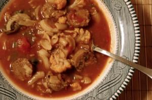The vegetarian Soupy Sunday soup.
